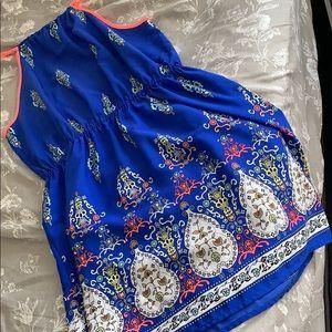 Blue detail dress